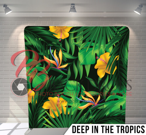 Single-sided Pillow Cover Backdrop  (Deep in the Tropics)
