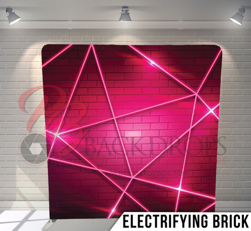 Single-sided Pillow Cover Backdrop  (Electrifying Brick)