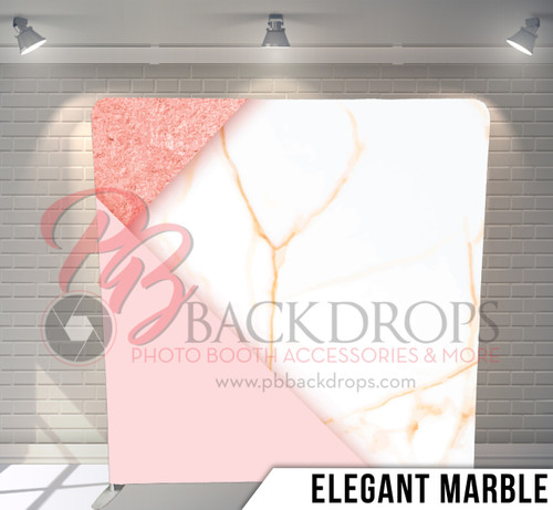 Single-sided Pillow Cover Backdrop  (Elegant Marble)