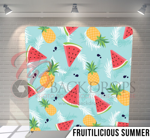 Single-sided Pillow Cover Backdrop  (Fruitlicious Summer)