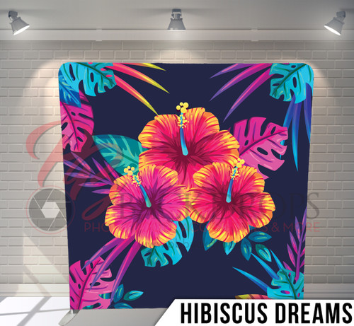 Single-sided Pillow Cover Backdrop  (Hibiscus Dreams)