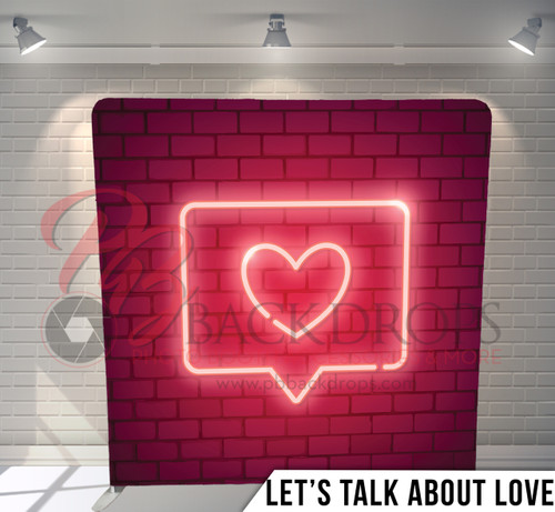 Single-sided Pillow Cover Backdrop  (Lets Talk about Love)