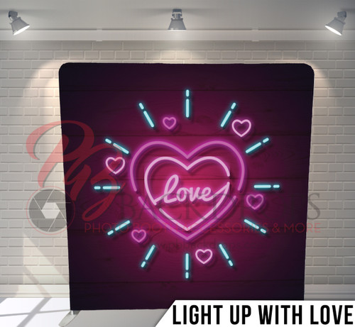 Single-sided Pillow Cover Backdrop  (Light Up with  Love)