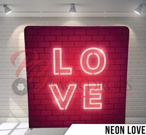 Single-sided Pillow Cover Backdrop  (Neon Love)