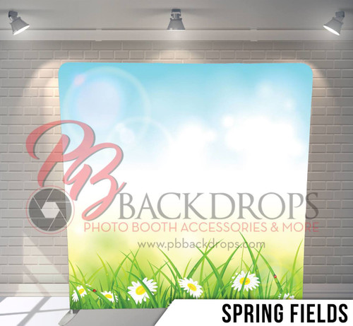 Single-sided Pillow Cover Backdrop  (Spring Fields)
