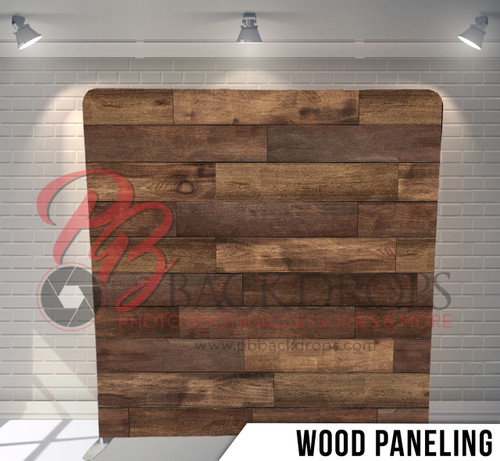 Single-sided Pillow Cover Backdrop  (Wood Paneling)