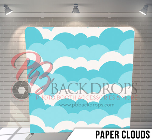 Single-sided Pillow Cover Backdrop  (Paper Clouds)