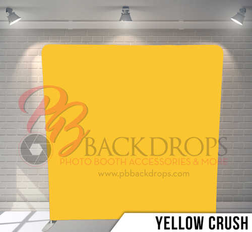 Single-sided Pillow Cover Backdrop  (Yellow Crush)