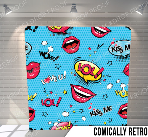 Single-sided Pillow Cover Backdrop  (Comically Retro)