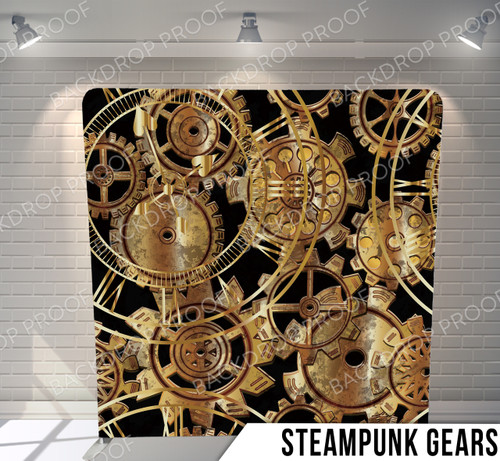 Single-sided Pillow Cover Backdrop  (SteamPunk Gears)
