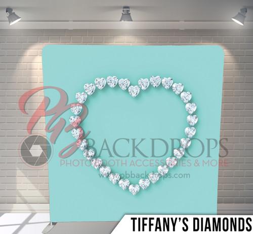 Single-sided Pillow Cover Backdrop  (Tiffanys Diamonds)