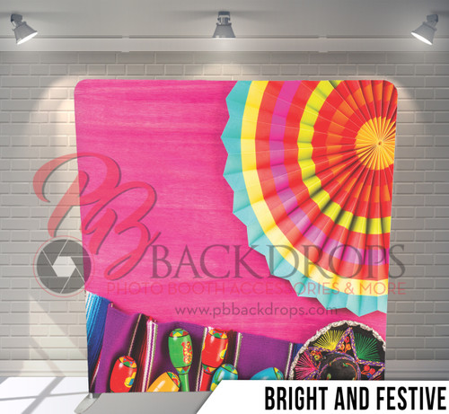 Single-sided Pillow Cover Backdrop  (Bright and Festive)