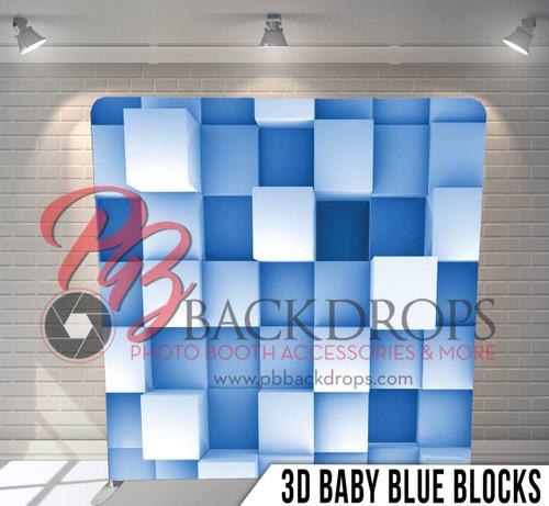 3d baby blue blocks