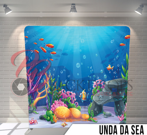 Single-sided Pillow Cover Backdrop  (Under Da Sea)