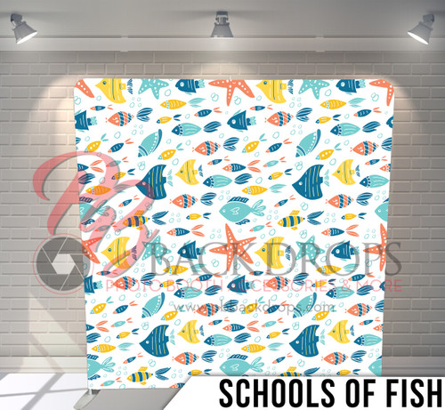 Single-sided Pillow Cover Backdrop  (Schools of Fish)