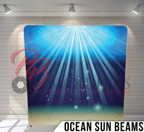 Single-sided Pillow Cover Backdrop  (Ocean Sunbeams)