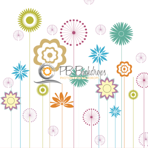 8x8 Printed Tension single-sided fabric backdrop - Garden | PB Backdrops