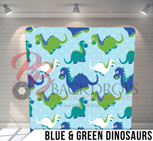 Single-sided Pillow Cover Backdrop  (Blue Green Dinasaurs)