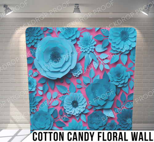 Single-sided Pillow Cover Backdrop  (Cotton Candy Floral Wall)