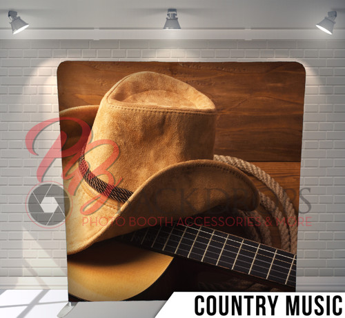 Single-sided Pillow Cover Backdrop  (Country Music)