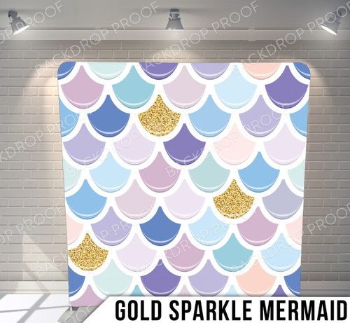 Single-sided Pillow Cover Backdrop  (Gold Sparkle Mermaid)