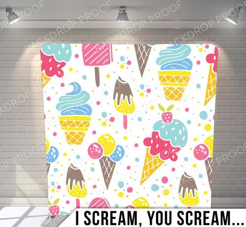 Single-sided Pillow Cover Backdrop  (I Scream You Scream)