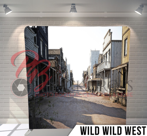 Single-sided Pillow Cover Backdrop  (Wild Wild West)