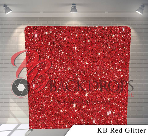 Single-sided Pillow Cover Backdrop  (KB Red Glitter)
