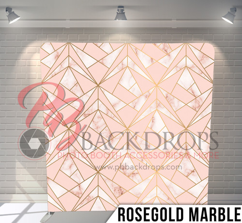 Single-sided Pillow Cover Backdrop  (RoseGold Marble)
