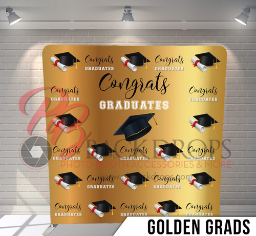 Single-sided Pillow Cover Backdrop  (Golden Grads)