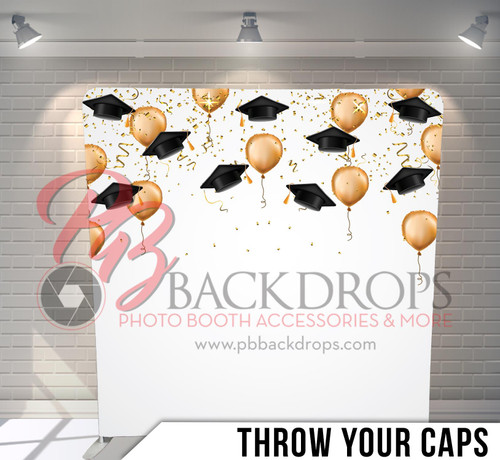 Single-sided Pillow Cover Backdrop  (Throw Your Caps)