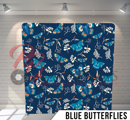 Single-sided Pillow Cover Backdrop  (Blue Butterflies)