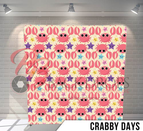 Single-sided Pillow Cover Backdrop  (Crabby Days)