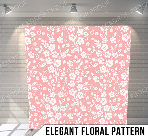 Single-sided Pillow Cover Backdrop  (Elegant Floral Pattern)
