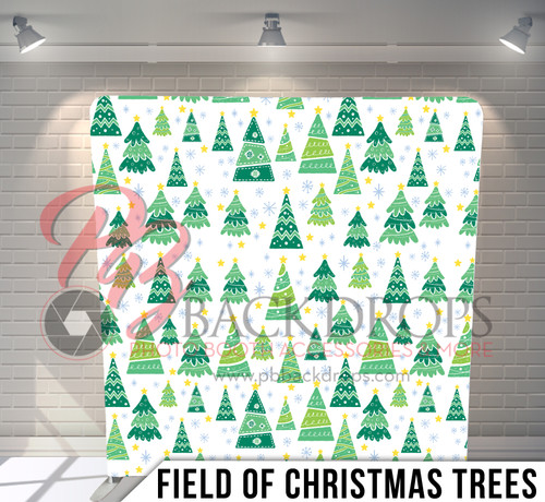 Single-sided Pillow Cover Backdrop  (Field of Christmas Trees)