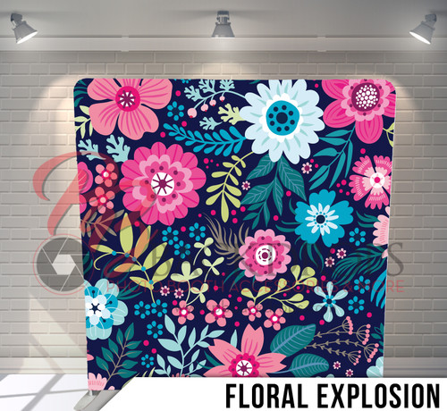 Single-sided Pillow Cover Backdrop  (Floral Explosion)