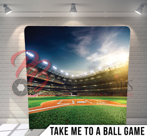 Single-sided Pillow Cover Backdrop  (Take Me To A Ball Game)