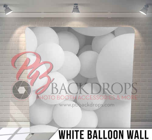 Single-sided Pillow Cover Backdrop  (White Balloon Wall)
