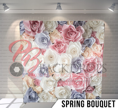 Single-sided Pillow Cover Backdrop  (Spring Bouquet)