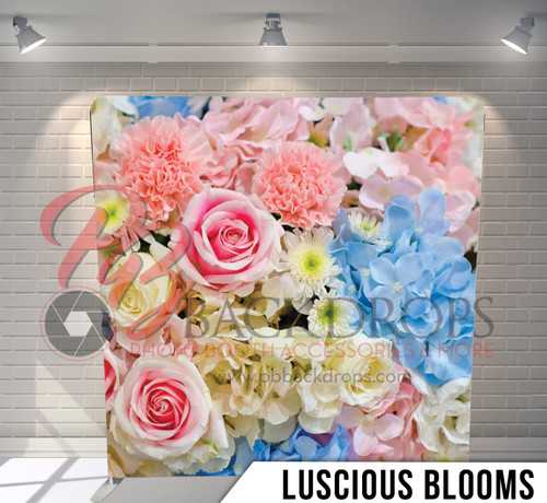 Single-sided Pillow Cover Backdrop  (Luscious Blooms)