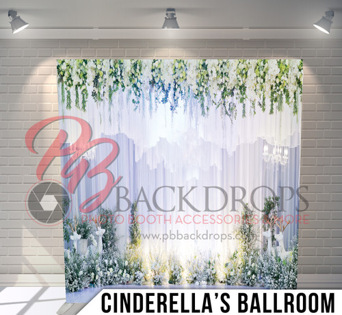 Single-sided Pillow Cover Backdrop  (Cinderella's Ballroom)