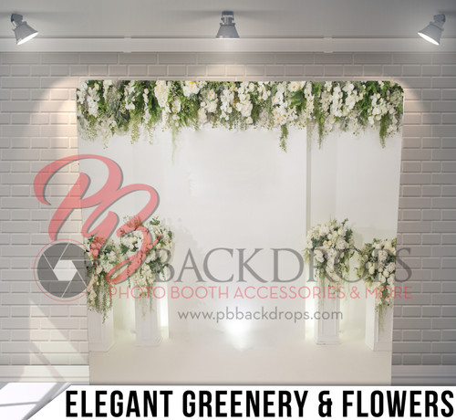 Single-sided Pillow Cover Backdrop  (Elegant Greenery and Flowers