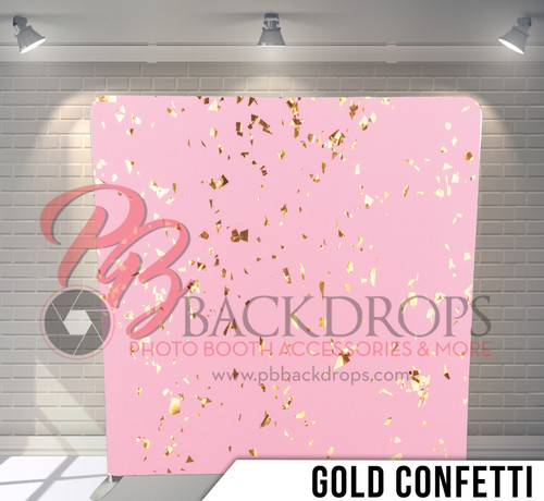 Single-sided Pillow Cover Backdrop  (Gold Confetti)