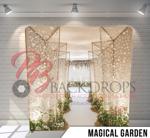 Single-sided Pillow Cover Backdrop  (Magical Garden)