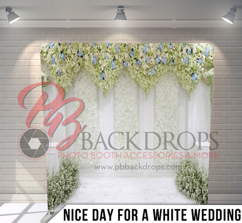 Single-sided Pillow Cover Backdrop  (Nice Day for a White Wedding)