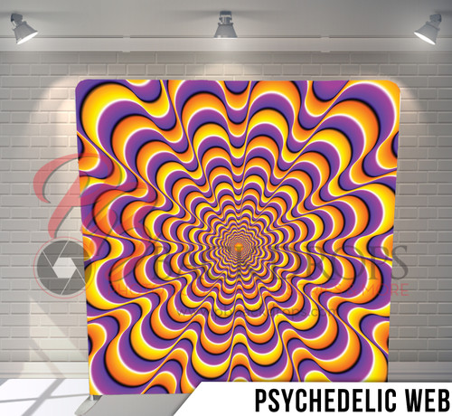 Single-sided Pillow Cover Backdrop  (Psychedelic Web)
