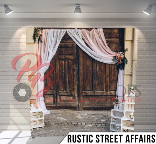 Single-sided Pillow Cover Backdrop  (Rustic Street Affairs)