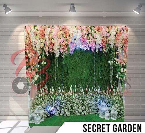Single-sided Pillow Cover Backdrop  (Secret Garden)
