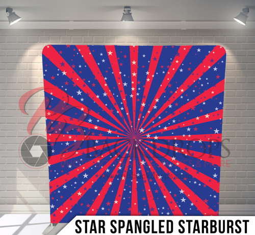 Single-sided Pillow Cover Backdrop  (Star Spangled Starburst)