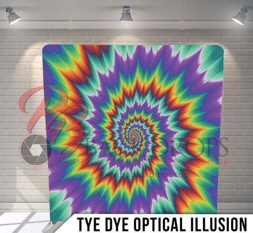 Single-sided Pillow Cover Backdrop  (Tye Dye Optical Illusion)